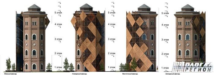 В конкурсе проектов реконструкции водонапорной башни Вологды победила работа без лифта